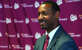 New Griz men's basketball coach Travis DeCuire