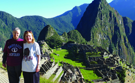 Nancy Halverson Cabe and Linda Phillips Knoblock in Peru