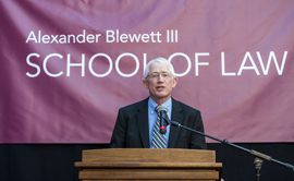 "The UM School of Law officially became the Alexander Blewett III School of Law at the University of Montana as a result of a  $10 million donation from Alexander ""Zander"" and Andrea ""Andy"" Blewett of Great Falls."