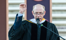 J.K. Simmons speaks at UM's Commencement in May.