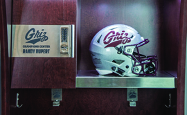 A new locker inside the Griz locker room