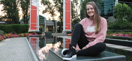 UM student Ellie Hanousek spent her summer interning at Nike Inc.