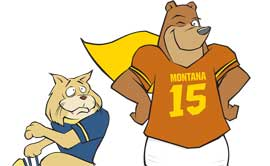 Grizwald, UM's cartoon bear