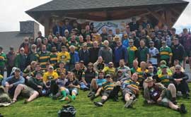 Rugby club members and alumni gather