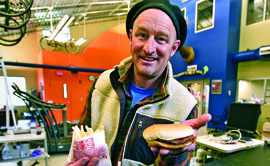 UM Professor Brent Ruby and a team of researchers found that eating fast food in the right amounts can provide the same potential for muscle glycogen recovery as sports nutrition products. (Photo by Tom Bauer/Missoulian)