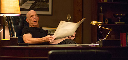 J.K. Simmons in a scene from Whiplash (2014)