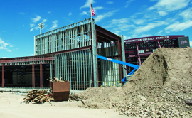 The Washington-Grizzly Champions Center is under construction,