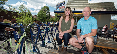 UM alumni Charlie and  Barbie Beaton own the Big Dipper, the popular ice cream spot on Missoula's Hip Strip.