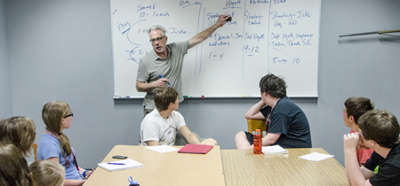 Students listen to UM Professor Michael Murphy in the Understanding and Making Movies class.