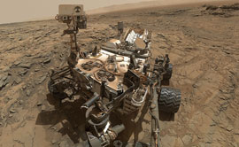 This self-portrait of Curiosity shows the rover at the Big Sky site on Mars.