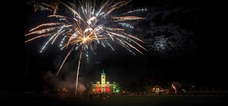 Fireworks over Main Hall