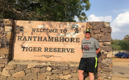 Tori Stahl at the Ranthambore National Park in India