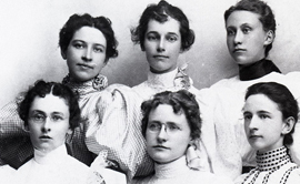 UM's historical women in a black and white photo